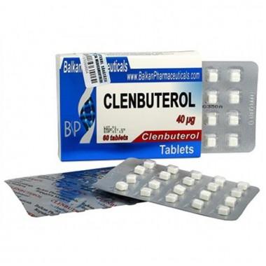 Clenbuterol Кленбутерол 40 мкг, 100 таблеток, Balkan Pharmaceuticals в Шымкенте