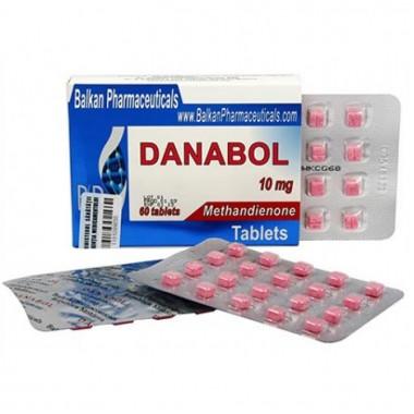 Danabol Данабол Метандиенон Метан 10 мг, 100 таблеток, Balkan Pharmaceuticals в Шымкенте