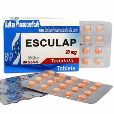 Esculap Тадалафил Эскулап 20 мг, 20 таблеток, Balkan Pharmaceuticals в Шымкенте